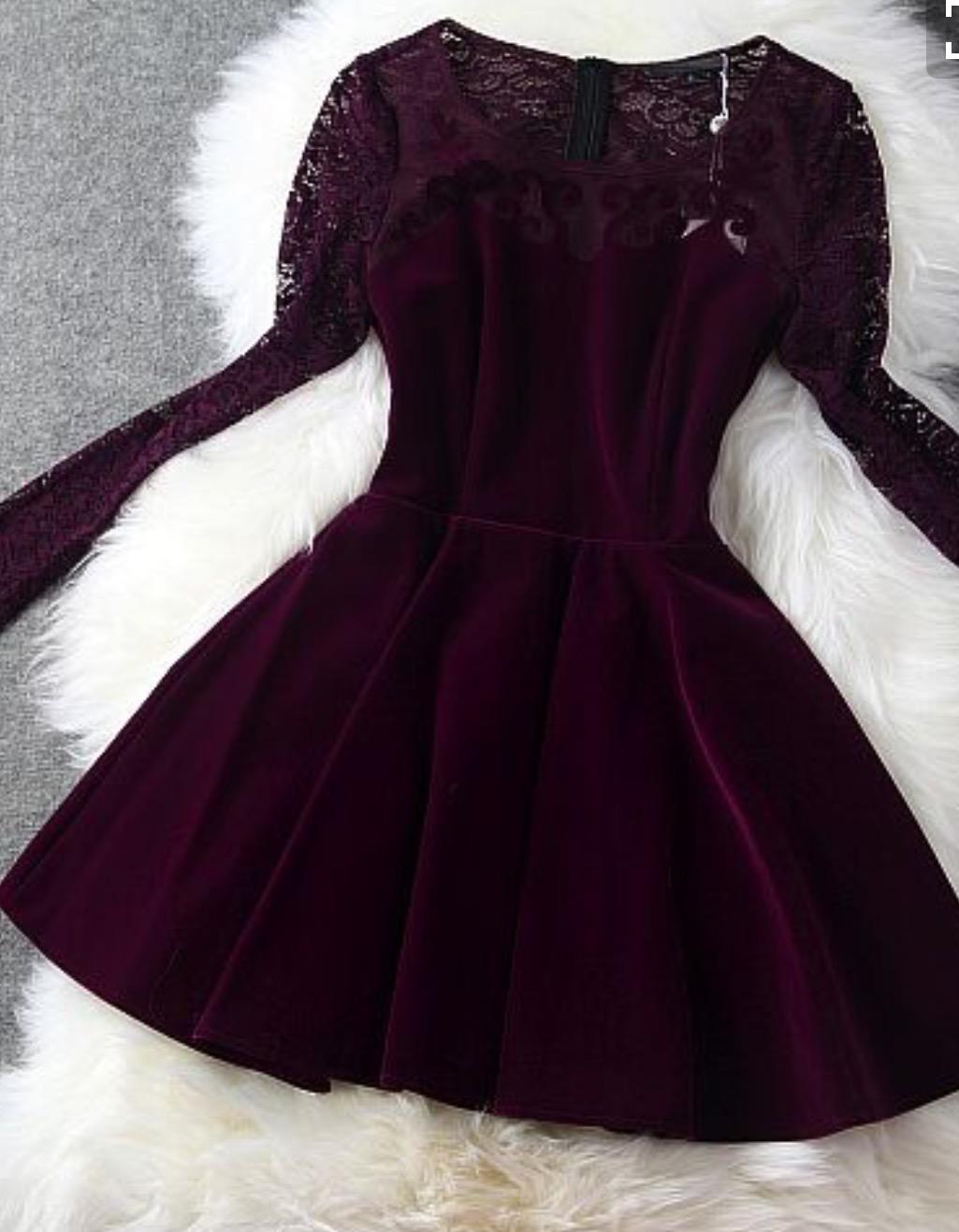 بالصور فساتين قطيفة للمحجبات , افضل فستان قطيفه 1033 7