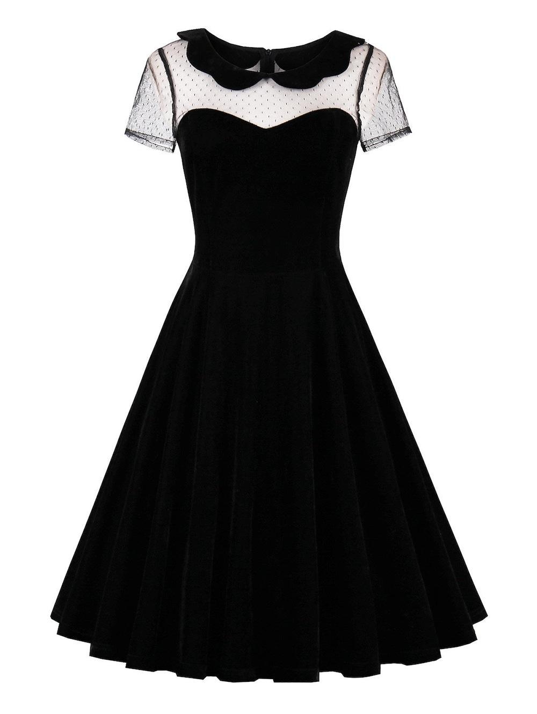 بالصور فساتين قطيفة للمحجبات , افضل فستان قطيفه 1033 8