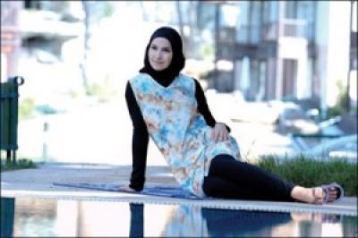 بالصور فساتين بحر للمحجبات , ملابس للصيف للحجاب 1041 4