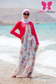 بالصور فساتين بحر للمحجبات , ملابس للصيف للحجاب 1041 7