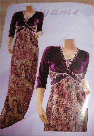 بالصور فساتين جزائرية منزلية , صور لبس جزائرى 1049 3