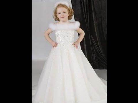 بالصور فساتين افراح للاطفال , فستان اطفال زفاف 1055 2