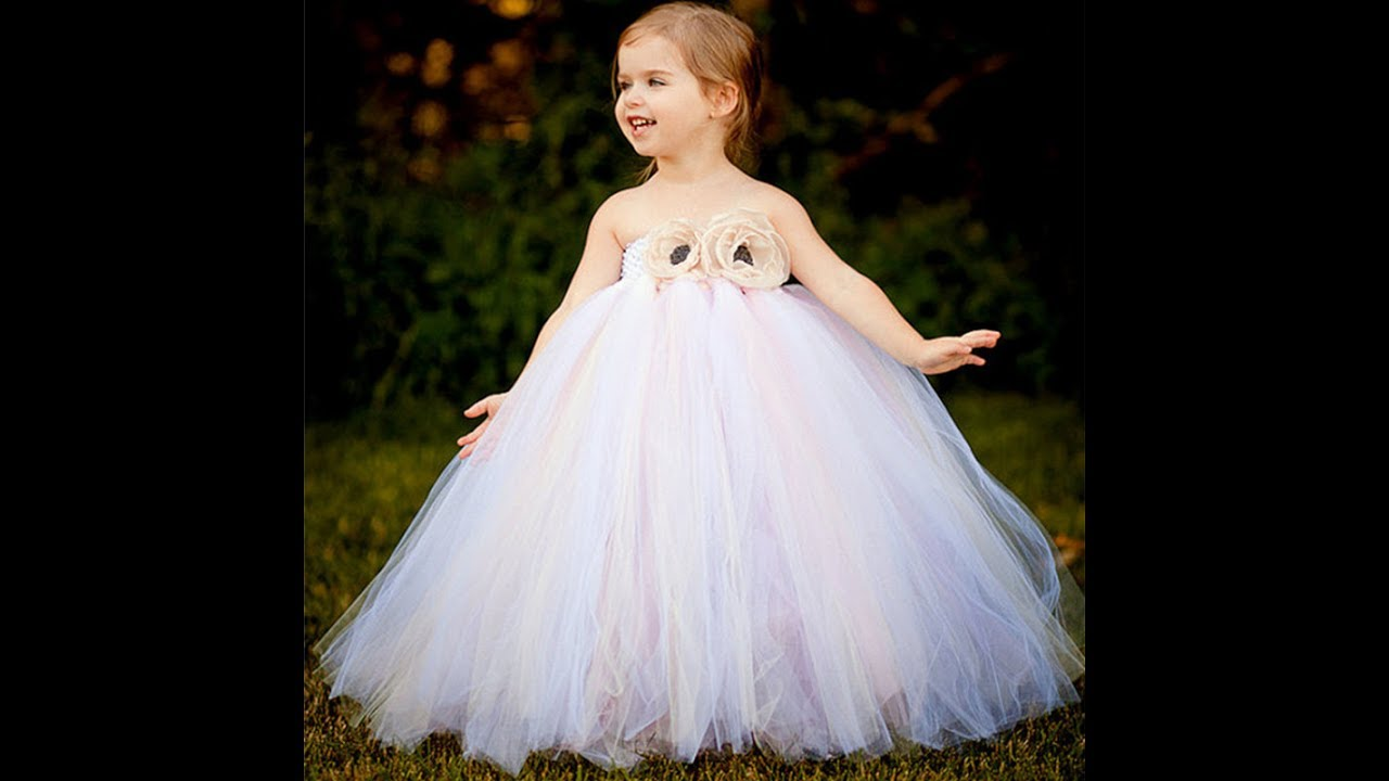 بالصور فساتين افراح للاطفال , فستان اطفال زفاف 1055 8