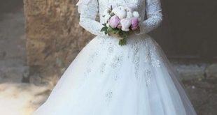 صوره احدث فساتين الافراح , اجمل فستان فرح ابيض