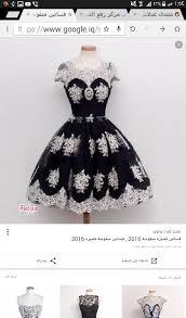 فساتين قصيرة منفوشة , اجمل فستان منقوش
