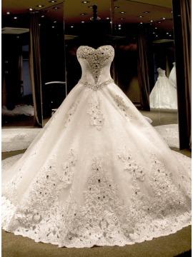 فساتين زفاف بالرياض , فستان افراح باصور