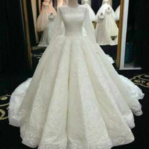 صوره فساتين زفاف بالرياض , فستان افراح باصور