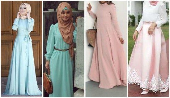 صورة فساتين كاجوال للمحجبات , اروع التصاميم وموديلات الفساتين