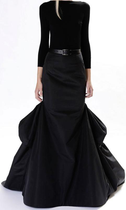 بالصور فساتين سوداء , فستان سورية باللون الاسود 1101 10
