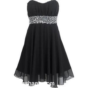 بالصور فساتين سوداء , فستان سورية باللون الاسود 1101 11