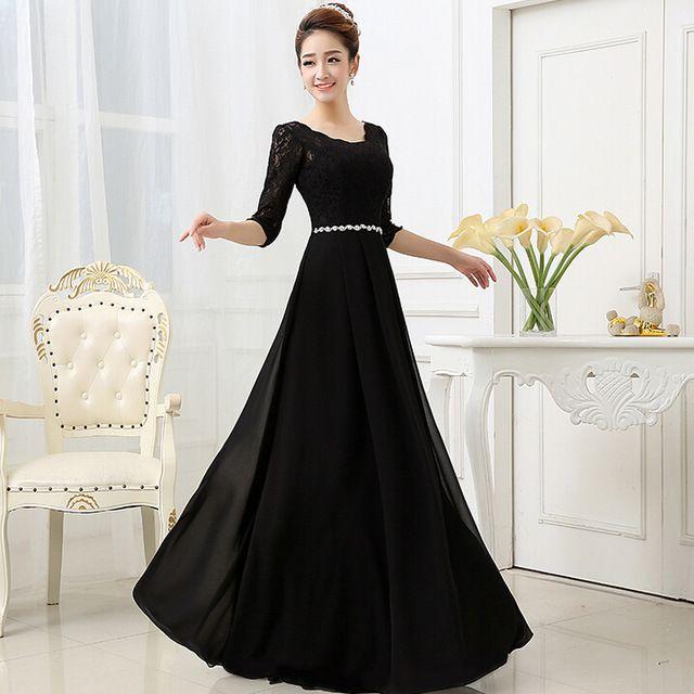 بالصور فساتين سوداء , فستان سورية باللون الاسود 1101 6