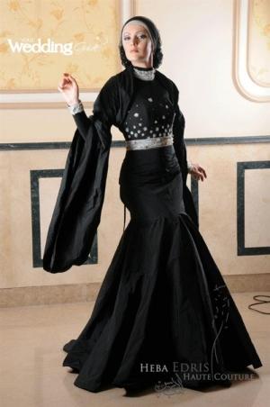 بالصور فساتين سوداء , فستان سورية باللون الاسود 1101 7