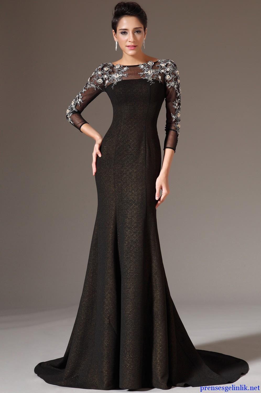 بالصور فساتين سوداء , فستان سورية باللون الاسود 1101 8