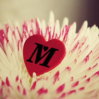 بالصور حرف m على شكل قلب , اجمل صور حرف M 11024 9