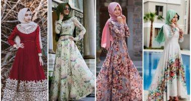 بالصور فساتين شيفون مشجر , تشكيلة لاجمل الفساتين المشجرة 1117 2
