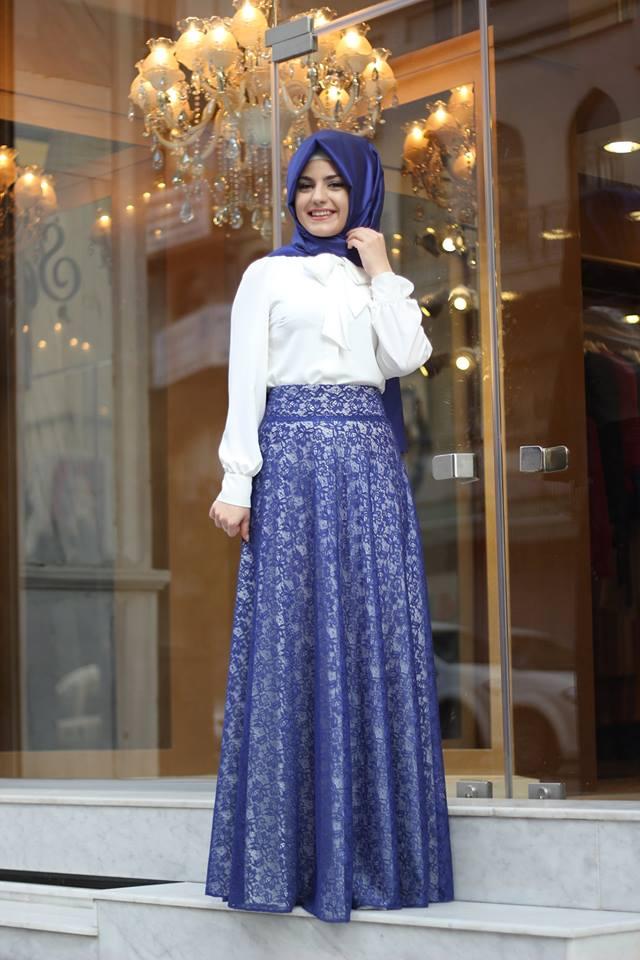 بالصور فساتين سهرة راقية , اروع فستان للسهرات للمحجبات 1139 2