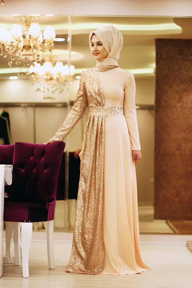 بالصور فساتين سهرة راقية , اروع فستان للسهرات للمحجبات 1139 3