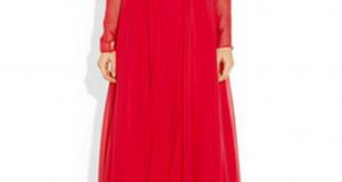 بالصور فساتين سهره كم طويل , تشكيلة من الفساتين الرقيقة 1159 10.jpg 310x165