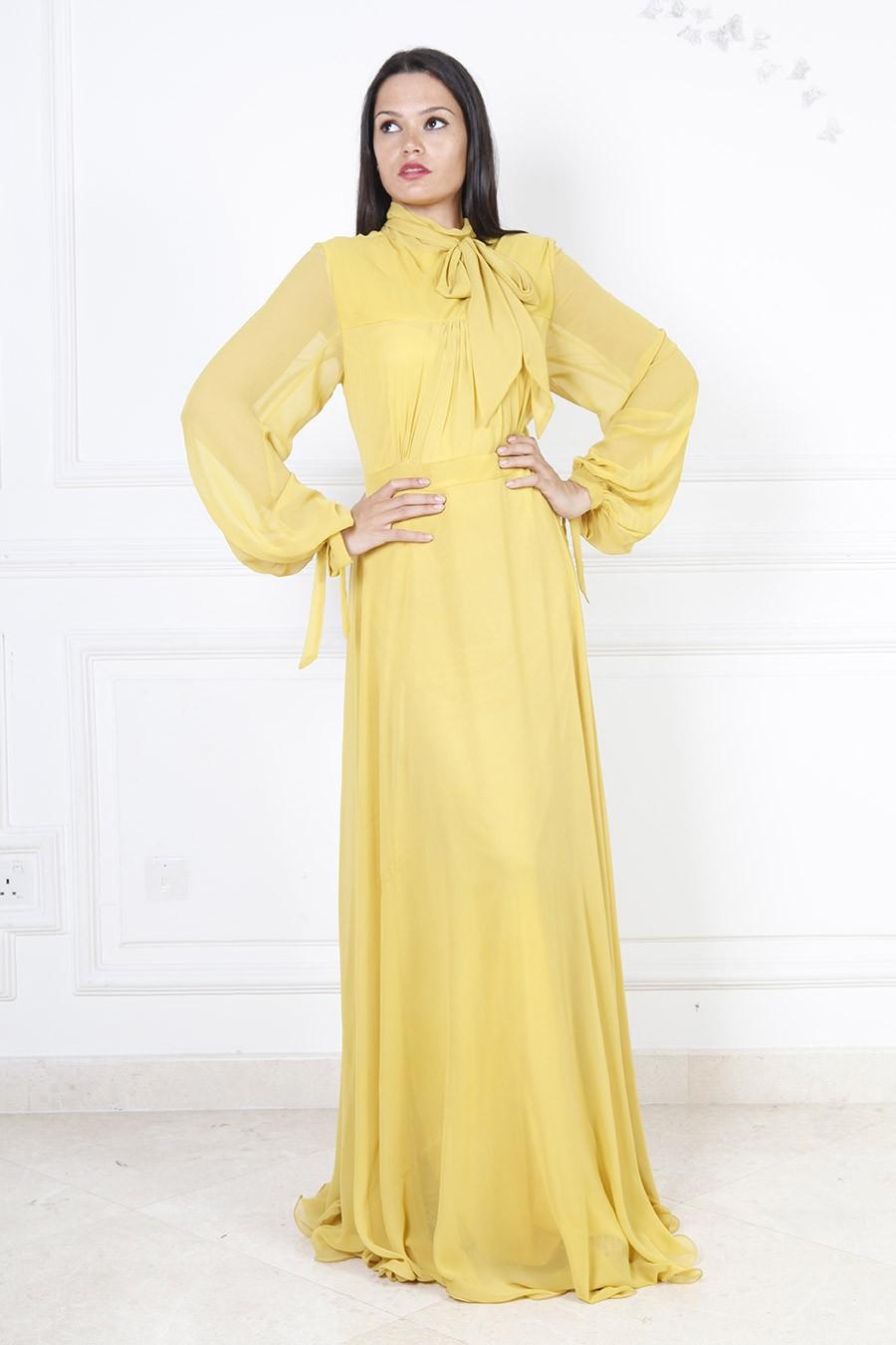بالصور فساتين سهره كم طويل , تشكيلة من الفساتين الرقيقة 1159 5