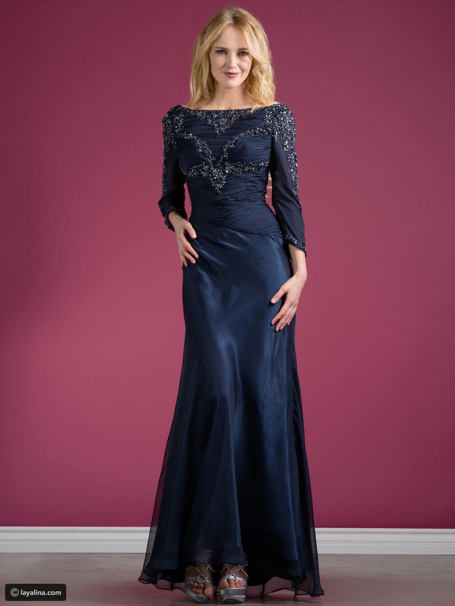 بالصور فساتين سهره كم طويل , تشكيلة من الفساتين الرقيقة 1159 7