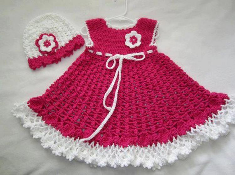 بالصور فساتين كروشيه للاطفال , احسن فستان كروشيه 1193 2