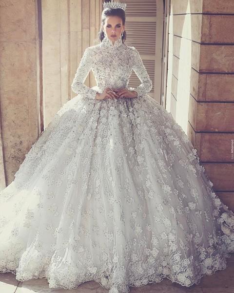 بالصور صور فساتين زفاف , اجمل فستان فرح للعروسة 1197 3