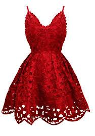 بالصور فساتين حمراء قصيرة , فستان من اللون الاحمر 1218 1