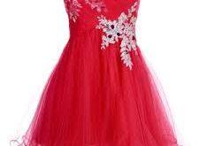 صوره فساتين حمراء قصيرة , فستان من اللون الاحمر