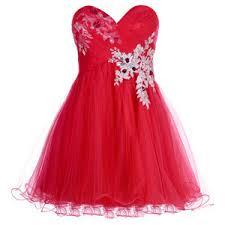 فساتين حمراء قصيرة , فستان من اللون الاحمر