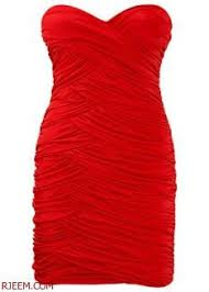 بالصور فساتين حمراء قصيرة , فستان من اللون الاحمر 1218 2