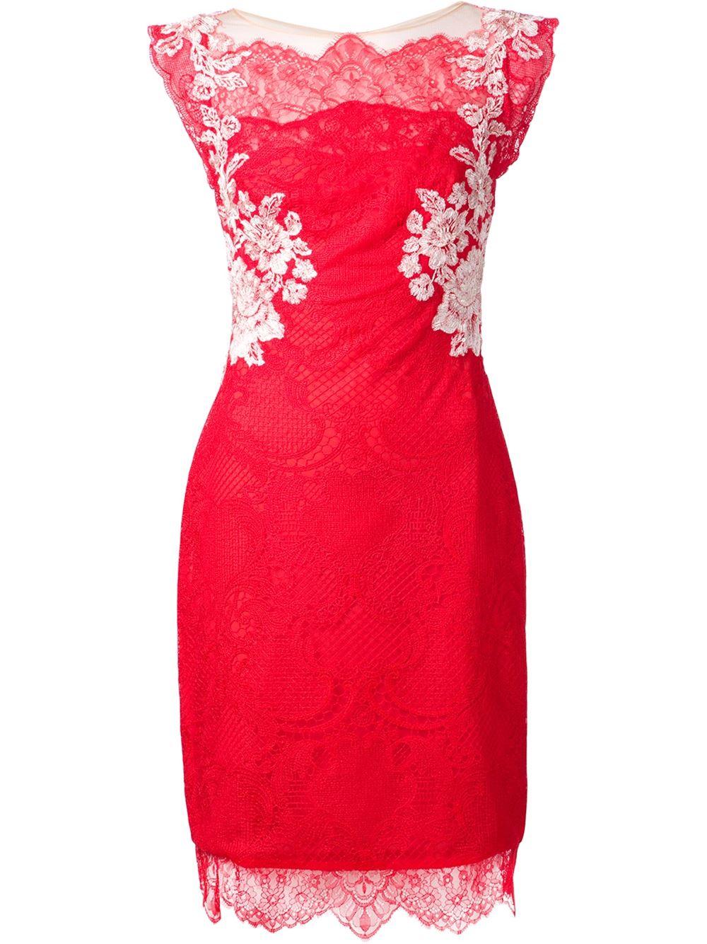 بالصور فساتين حمراء قصيرة , فستان من اللون الاحمر 1218 4