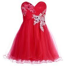 بالصور فساتين حمراء قصيرة , فستان من اللون الاحمر 1218 9