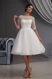 بالصور فساتين زفاف قصيرة , احلي تصاميم فساتين 1220 10