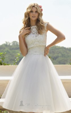 بالصور فساتين زفاف قصيرة , احلي تصاميم فساتين 1220 2