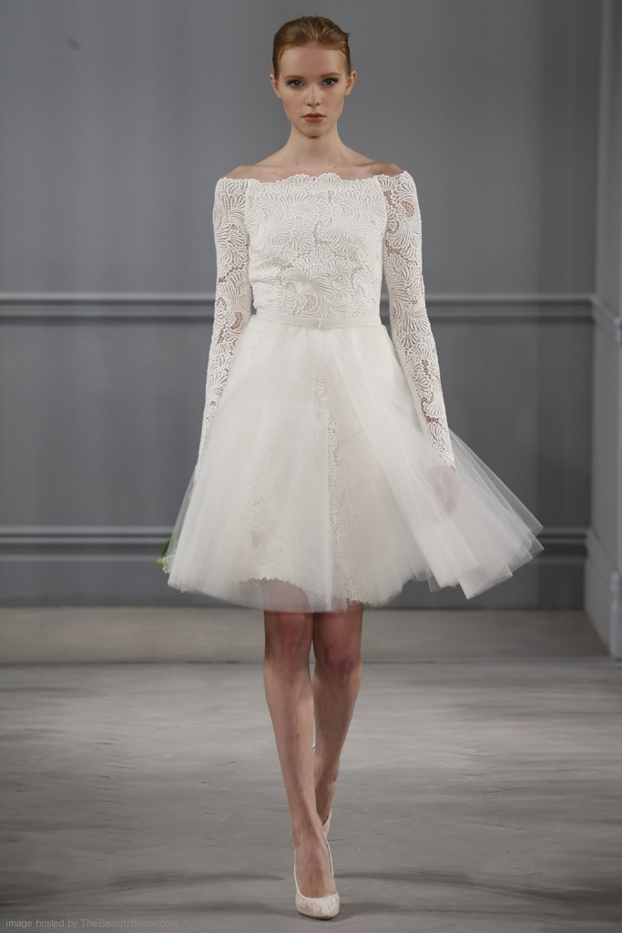 بالصور فساتين زفاف قصيرة , احلي تصاميم فساتين 1220 8