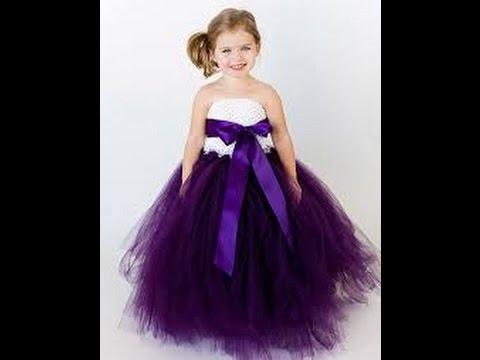 بالصور فساتين اطفال طويله , احدث فستان طويل للااطفال 1222 8