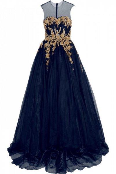 بالصور فساتين سهرة شيفون , كولجشين جامد لفستان شيفون 1223