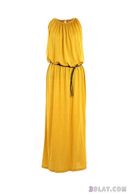 بالصور فساتين صيفية طويلة , فستان صيفى خفيف 1242