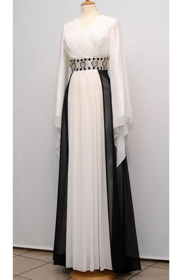 بالصور فساتين للمحجبات للمناسبات , فستان للمحجبات 1248