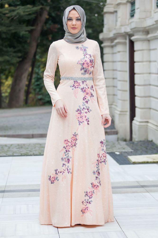 بالصور فساتين هاديه , تشكيلة من الفساتين الرقيقة للمحجبات 1250 2