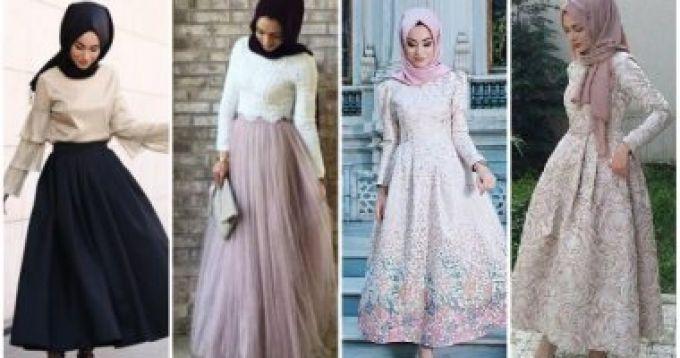 بالصور فساتين هاديه , تشكيلة من الفساتين الرقيقة للمحجبات 1250 4