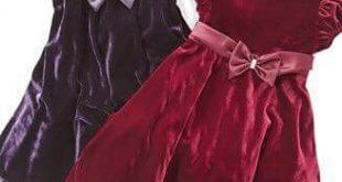 فساتين اطفال قطيفه , اجمل فستان قطيفه اطفال