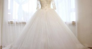 فساتين زفاف محجبات تركية , فستان رائع لفرحه العمر