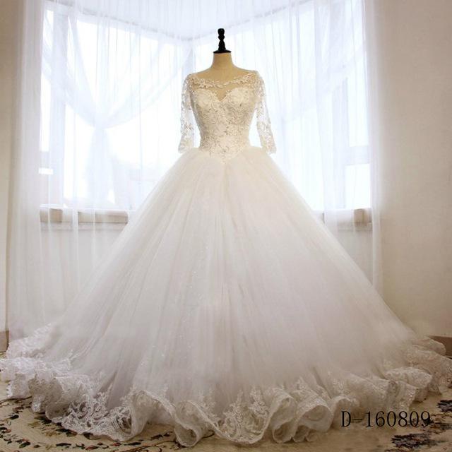 بالصور فساتين زفاف محجبات تركية , فستان رائع لفرحه العمر 1259