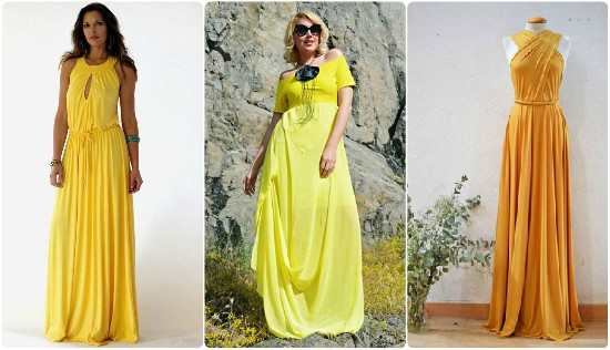 بالصور فساتين باللون الاصفر , احلي فساتين صفراء 1265 7
