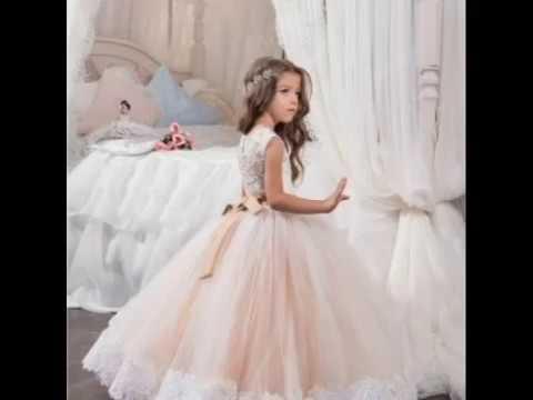 بالصور فساتين اعراس للاطفال , فستان جميل للزفاف 1268 5