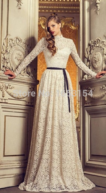بالصور فساتين دانتيل فرنسي , فستان انيق فرنساوي 1273 9