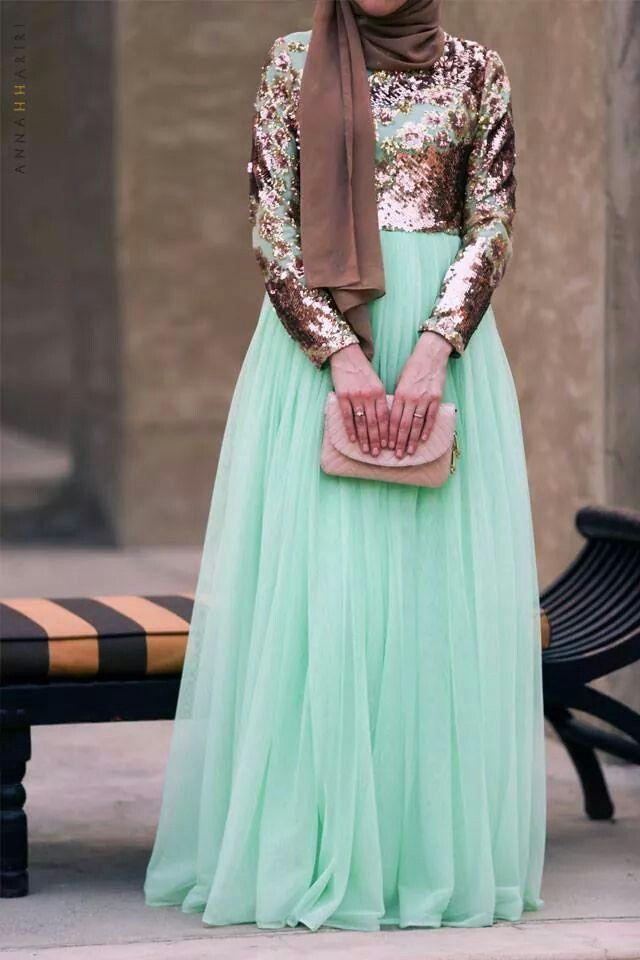 بالصور فساتين ناعمه طويله , اروع فستان رقيق للمحجبات 1280 10