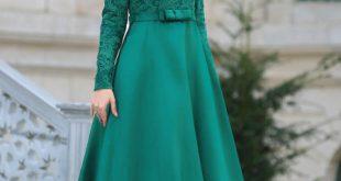 فساتين ناعمه طويله , اروع فستان رقيق للمحجبات