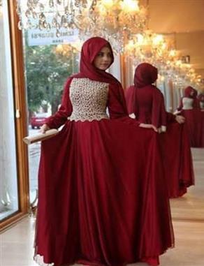 بالصور فساتين ناعمه طويله , اروع فستان رقيق للمحجبات 1280 2